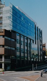The southern facade of the new Compuer Science building.
