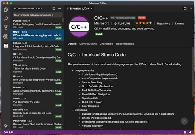 Developing C programs on MacOS