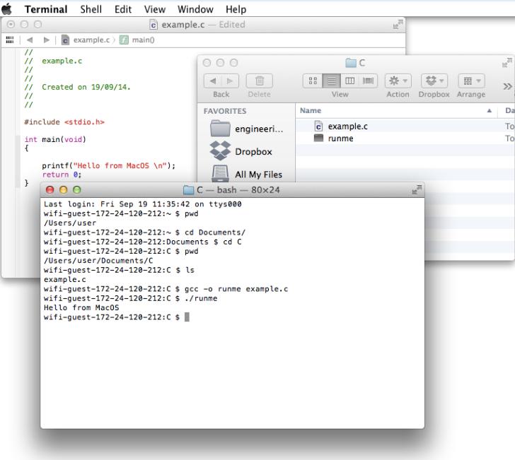 Compile C Programs Terminal