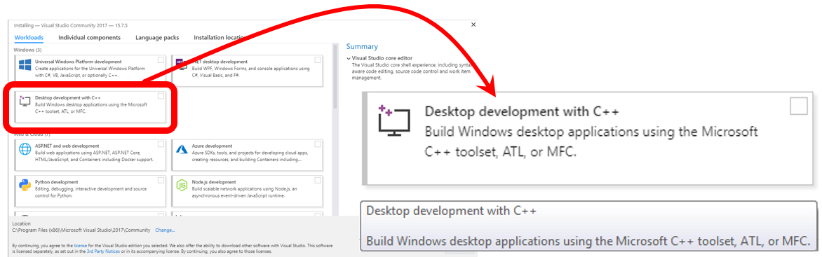 Developing C programs on Windows