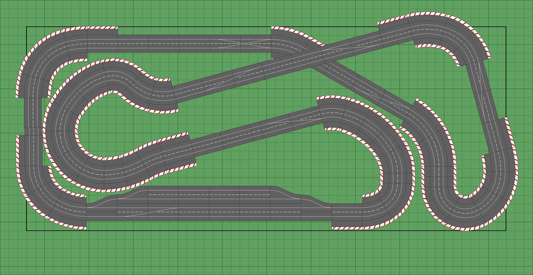 Slot car layouts plans